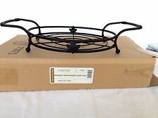 Wrought Iron Large Tray Round Server Trivet Longaberger hold Dinner Pie Plate