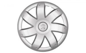 """Original Peugeot """"Naos"""" 15 Zoll Radzierblende Radkappen für Stahlfelgen 9406F9"""