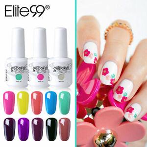 Elite99 Colour Gel Polish Nail Art Base Top Coat UV LED Manicure Salon 15ML DIY