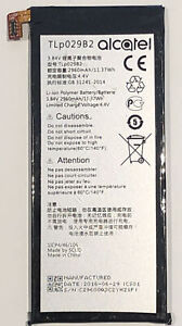 Official Alcatel TLp029B2 Original Replacement Internal Battery 2960mAh 3.84V