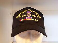 #1827 PURPLE HEART COMBAT WOUNDED 1959-75 VIETNAM VETERAN Ballcap Cap Hat