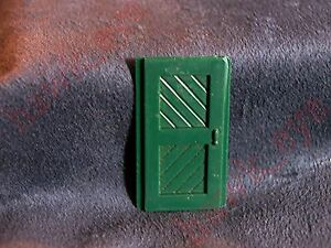 Plasticville Passenger Station Green Door Piece O-S Scale HTF
