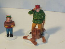 Dept 56 Great Accessory Heritage Village Wood Cutter and Son