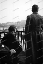 negativ-1936-Bremen-BDM-Cute Girl-Jugend-Mädel-Brücke-schiffe-4