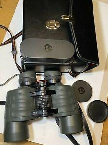Vintage BRESSLER Speed 8x40 Porro Prism Binoculars German Rare Set w/ Case Caps