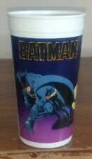 Batman Movie Taco Bell Plastic Purple Collector Cup Batmobile Pepsi 1989