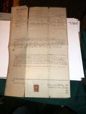 #7702,Wm Dennis Land Contract Document,1871,Warren Ohio