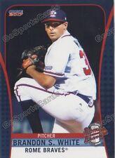 2017 Rome Braves Brandon S White RC Rookie Atlanta Braves