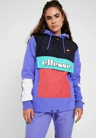 Ellesse Womens Courmayer Jacket Overhead Purple 10uk Logo