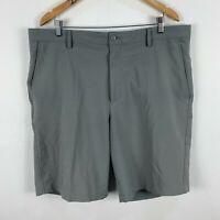 FJ Foot Joy Golf Shorts Mens 40 Grey Zip Closure Pockets