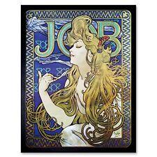 Alphonse Mucha Retro Nouveau Job Advert 12X16 Inch Framed Art Print