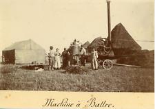 """France, Paysans avec une """"Machine à Battre"""" ca.1895, vintage citrate print Vinta"""