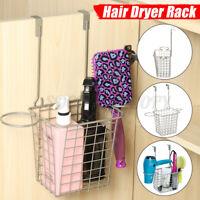 Hair Dryer Comb Holder Storage Organizer Rack Shelf Basket Cabinet Door Hanger
