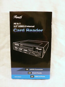"""Rosewill RCR-IM5001 All-in-1 3.5"""" USB 2.0 Internal Card Reader Extra Face Plate"""
