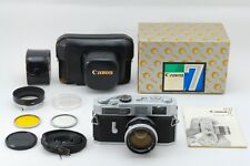 RARE MINT Canon Model 7 Rangefinder w/50mm f1.4 Lens Leica Mount etc from Japan