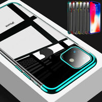 For iPhone 11 Pro Max XS XR X 8 7 6s Plus Plating Soft Silicone Clear Case Cover