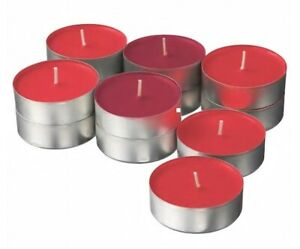 Red garden berries Scented Tealight Candles Home Wedding Party 59mm 9 hour Burn