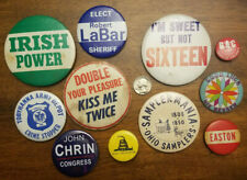 Lot of 11 assorted mostly vintage pin backs