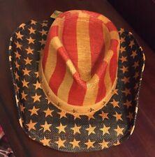 America 4th Of July PATRIOTIC COWBOY HAT STAR STUDS HATBAND BY GOLDCOAST SUNWEAR