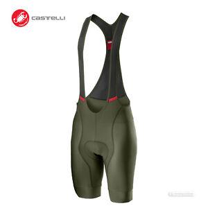 NEW 2021 Castelli COMPETIZIONE Cycling Bib Shorts : MILITARY GREEN