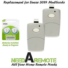 For Multi-Code 3089 2-Pack MultiCode 308911 Linear MCS308911 Garage Gate Remote