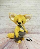 "handmade  OOAK Artist teddy bear fox  7"""
