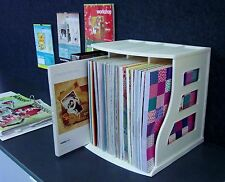 Paper Storage Rack 12x12 Cardstock Holder Vinyl Record Crate Ring Binder Stand