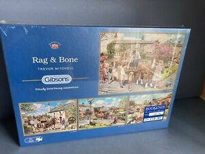 Gibsons Rag & Bone Puzzles 4 x 500 pieces new & sealed
