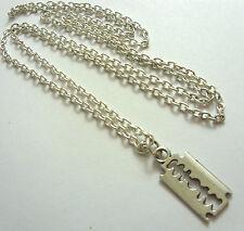A Lametta Rasoio Ciondolo Argento Tibetano ciondolo,Lungo 76.2cm