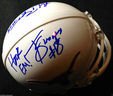 MALCOLM BROWN TYRONE SWOOPES SIGNED TEXAS LONGHORNS HELMET AUTOGRAPHED COA K1