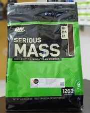 Optimum Nutrition Serious Mass Weight Gainer Protein Powder - Chocolate 12Lb Bag