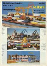 Katalog Kibri Neuheiten 1999 Modellbausätze Gebäude + Zubehör in HO 1:87
