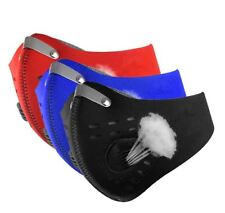 Motorcycle Bicycle Neoprene City Face Mask & Filter Training - BLUE