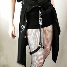Wedding Goth Handmade Women Stocking Bondage Leg Garter Leather Harness