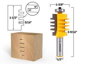 "1-1/2"" Easy Setup Finger Joint Router Bit - 1/2"" Shank - Yonico 15141"
