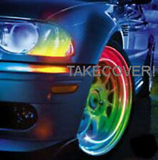 MULTI-COLOR LED TYRE LIGHTS TIRE WHEEL VALVE CAP motorcycle