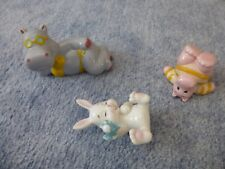 3 süße Dekofiguren Hippo`s und Häschen aus Porzellan Guter Zustand !