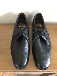 Top Quality Vintage - Mens Grenson Shoes: Black Leather - Size UK/Aus 8.5FX