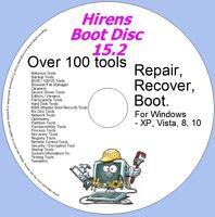Hirens Disc Boot Disc - Windows Utilities Recovery & Repair 15.2 - XP,VISTA,7,8