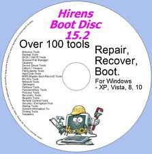 Hirens Disc Boot Disc - Windows Utilities Recovery & Repair 15.2 - XP,VISTA,7,8