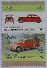 1934 CHRYSLER AIRFLOW Car Stamps (Leaders of the World / Auto 100)