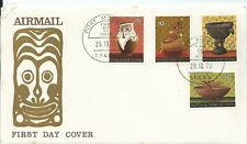 1970 FDC Native Artefacts  set of 4 FDC FDI Port Moresby 28.10.70 Unaddressed