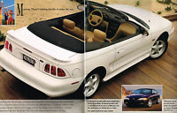 1996 Ford MUSTANG Sales Brochure/Pamphlet/Flyer with Color chart: GT,