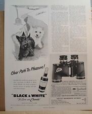 KEYSTONE MOVIE CAMERA SCOTTY DOGS BLACK WHITE TERRIERS SCOTCH OLD VTG 1958 ADS