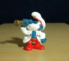 Smurfs Papa Smurf Captain Telescope Figure Vintage Toy PVC Figurine Peyo 20141