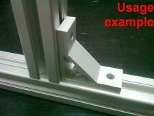 Aluminum T-slot 30x30 profile 90 deg corner support connector bracket, 4-set