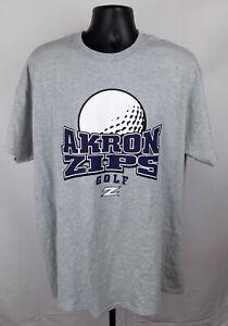 Akron Zips Golf Shirt Unisex XL Gray Graphic Logo Adult Shirt New ST138