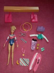Barbie Gymnastics Playset with Doll and Accessories 30cm Play Girls Sports Rings