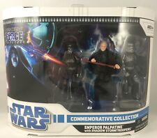 STAR WARS EMPEROR PALPATINE WITH SHADOW STORMTROOPERS FORCE UNLEASHED MIB SEALED
