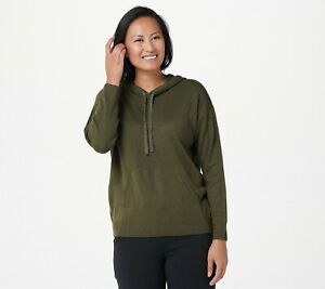 zuda Soft Hooded Pullover - Woodland Green (1X)